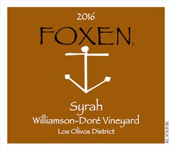 2016 Syrah, Williamson-Doré Vineyard
