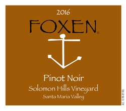 2016 Pinot Noir, Solomon Hills Vineyard