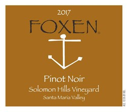 2017 Pinot Noir, Solomon Hills Vineyard